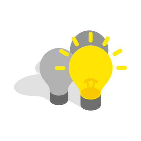 stays: Light stays on icon in isometric 3d style isolated on white background. Highlighting symbol Illustration