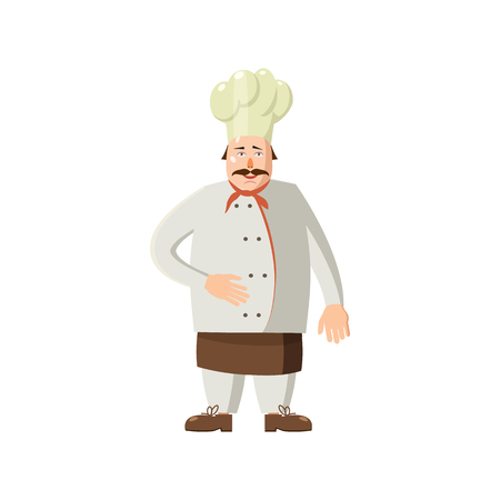 gastronomic: Chef icon in cartoon style on a white background