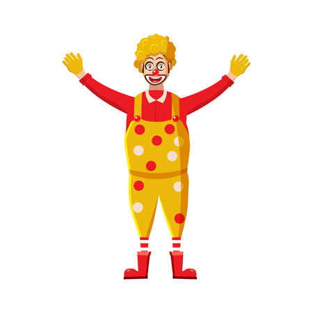 adult birthday party: Clown icon in cartoon style on a white background
