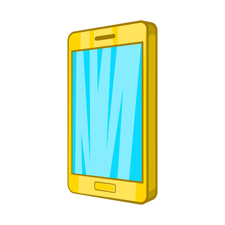 Smartphone icon in cartoon style on a white background