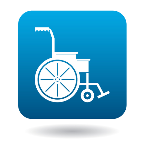 Wheelchair icon in simple style on a white background Illustration