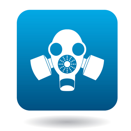 nuclear fear: Gas mask icon in simple style on a white background