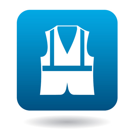 safety vest: Safety vest icon in simple style on a white background