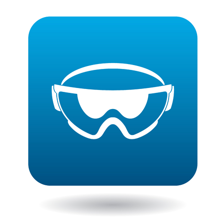 protective eyewear: Safety glasses icon in simple style on a white background
