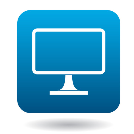 Computer monitor icon in simple style on a white background Illustration