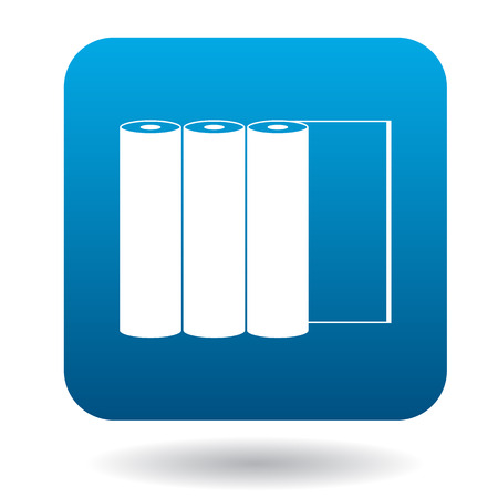paper rolls: Paper rolls icon in simple style on a white background