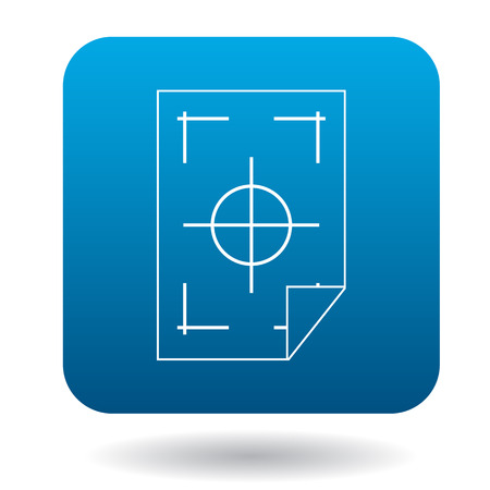 Printer marks on a paper icon in simple style on a white background Illustration