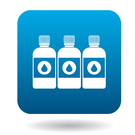 printer ink: Printer ink bottles icon in cartoon style on a white background