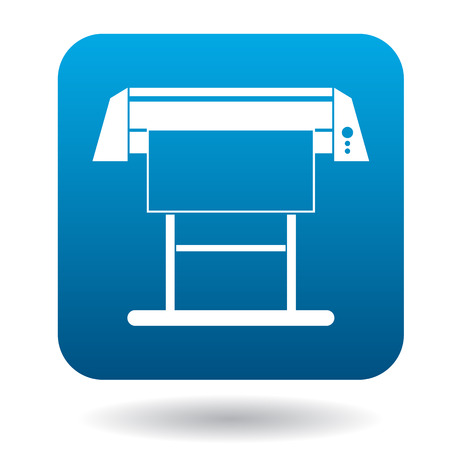 inkjet: Large format inkjet printer icon in simple style on a white background