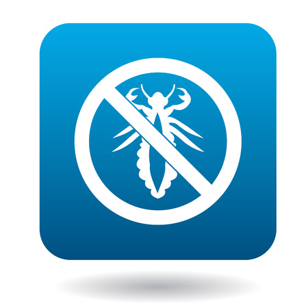 louse: No louse sign icon in simple style on a white background Illustration