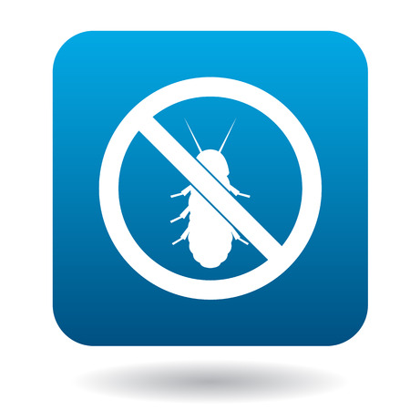 No termite sign icon in simple style on a white background Çizim