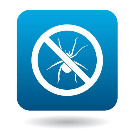 Aucun signe d'araignée icône dans un style simple sur un fond blanc Banque d'images - 59976415