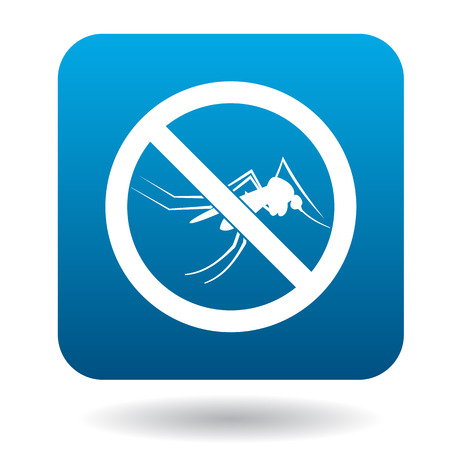 no mosquito: No mosquito sign icon in simple style on a white background