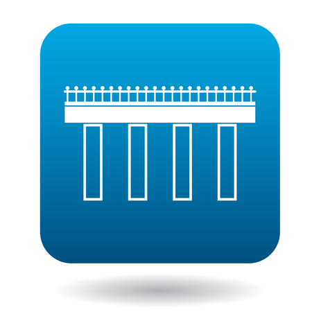 viaduct: Bridge icon in simple style on a white background Illustration