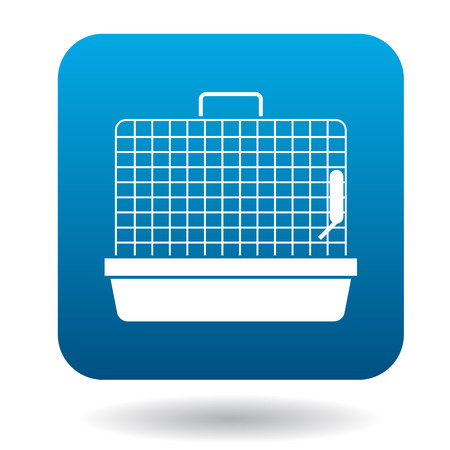 mouse trap: Rodent cage icon in simple style isolated on white background Illustration