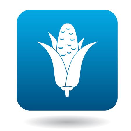 eatable: Corncob icon in flat style on a white background Illustration