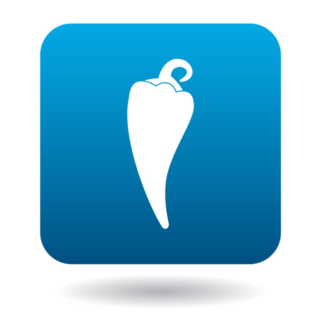 capsaicin: Hot pepper icon in flat style on a white background Illustration
