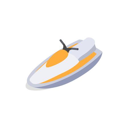 Jet ski icon in isometric 3d style isolated on white background. Maritime transport symbol