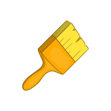 Paint brush icon in cartoon style isolated on white background. Repair symbol