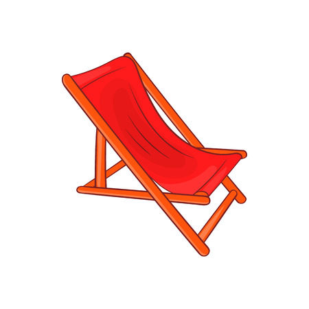 Lounger icon in cartoon style isolated on white background. Relax symbol Illustration