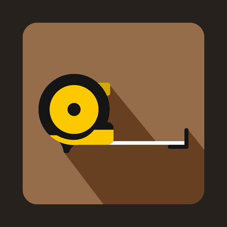 millimeters: Roulette construction icon in flat style on a coffee background