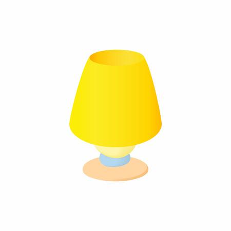 hand stand: Floor lamp icon in cartoon style isolated on white background. Illumination symbol