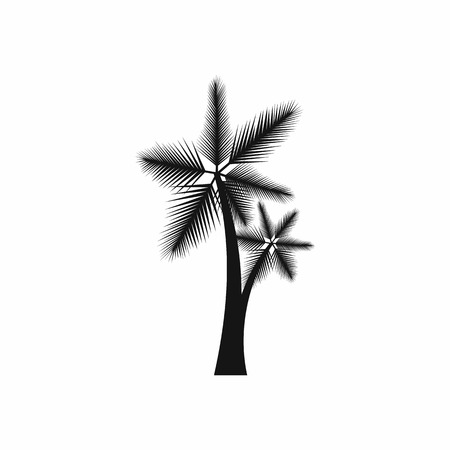 flora: High palm tree icon in simple style isolated on white background. Flora symbol