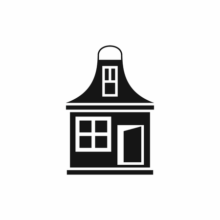small house: Small house icon in simple style isolated on white background. Structure symbol Illustration