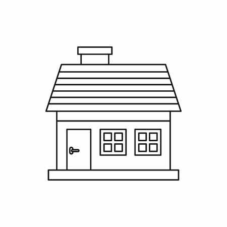 cottage: Cottage icon in outline style on a white background