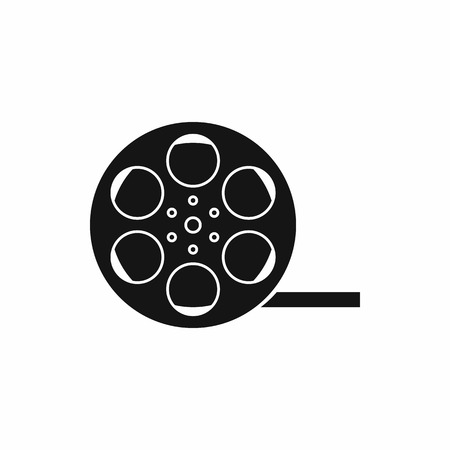 Film icon in simple style isolated on white background. Video symbol Illustration