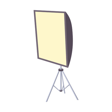 Softbox icon in cartoon style isolated on white background. Photography symbol
