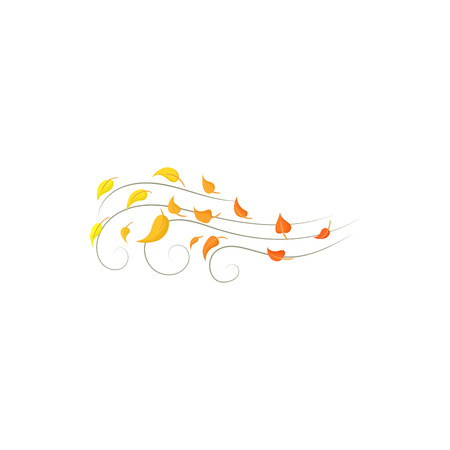 Autumn wind icon in cartoon style isolated on white background. Weather symbol
