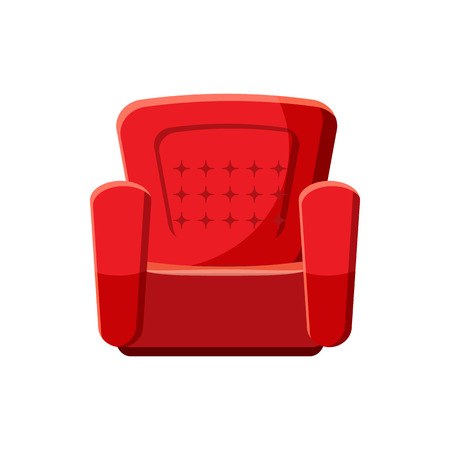 Armchair icon in cartoon style isolated on white background. Furniture symbol Vectores