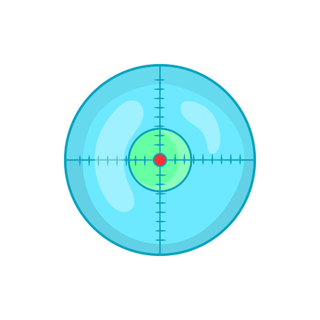 Optical sight icon in cartoon style on a white background Illustration