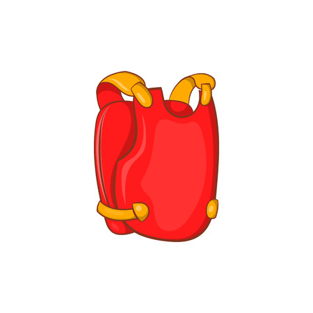 Red paintball vest icon in cartoon style on a white background Illustration
