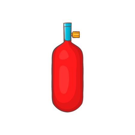 Gas hand grenade icon in cartoon style on a white background Illustration