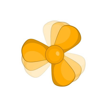 coolant: Car fan icon in cartoon style on a white background