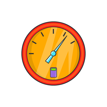 Indicator fuel device icon in cartoon style on a white background