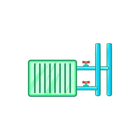 gas radiator: Radiator icon in cartoon style on a white background