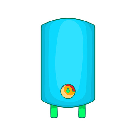 boiler: Boiler, water heater icon in cartoon style on a white background