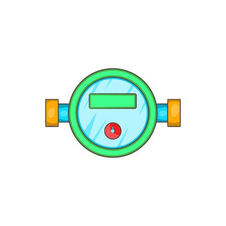 economize: Water meter icon in cartoon style on a white background Illustration