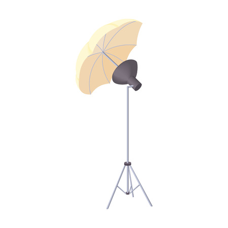 photography equipment: Octobox icon in cartoon style isolated on white background. Photography symbol Illustration