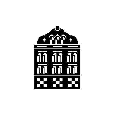 holy place: Mosque building icon in simple style on a white background