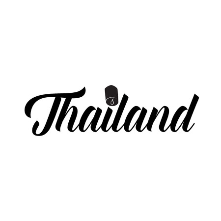 sights: Thailand word icon in simple style on a white background