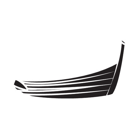 Thai boat icon in simple style on a white background Illustration