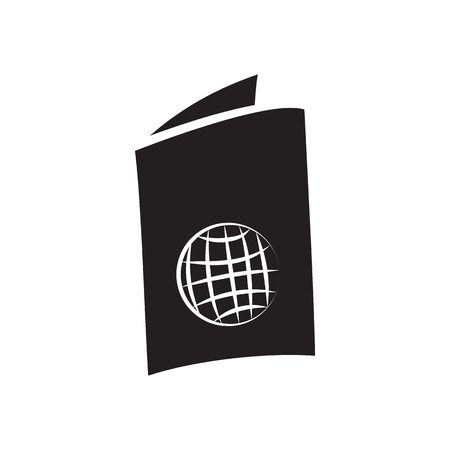 airway: Passport icon in simple style on a white background