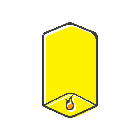 fireworks 'hope fireworks: Sky lantern icon in flat style on a white background
