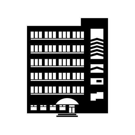 multistory: Multistory building icon in simple style on a white background