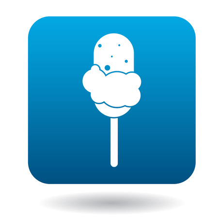 sorbet: Ice cream on a stick icon in simple style isolated on white background Illustration