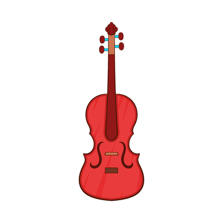 chord: Cello icon in cartoon style isolated on white background. Musical instrument symbol